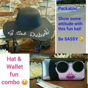 Accessories - Fun & DIVA-licious Hat / Wallet combo 🌞